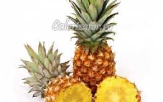 Химический состав ананаса. Ананас — химический состав, пищевая ценность