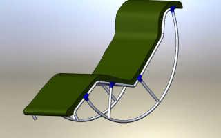 Кресло качалка из пластиковых труб. Кресла-качалки своими руками