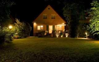 Придомовое освещение частного дома. Как организовать освещение в частном дворе?