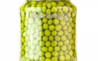 Сколько калорий в зеленом горошке в банке. Горошек зелёный консервированный